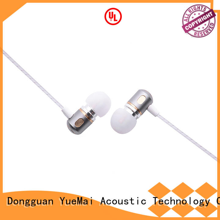 Wholesale metallic driver metal headphone YueMai Acoustic Technology Brand