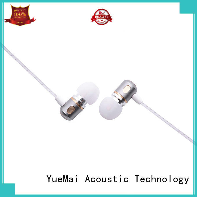 Hot dual metal in ear headphones metallic YueMai Acoustic Technology Brand