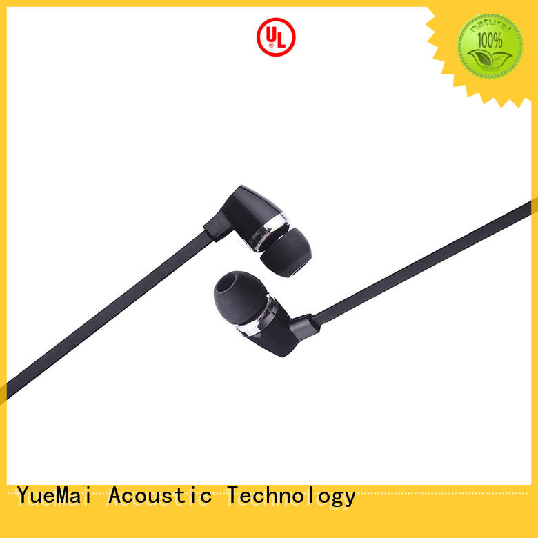 earphone mic wooden earbuds YueMai Acoustic Technology Brand