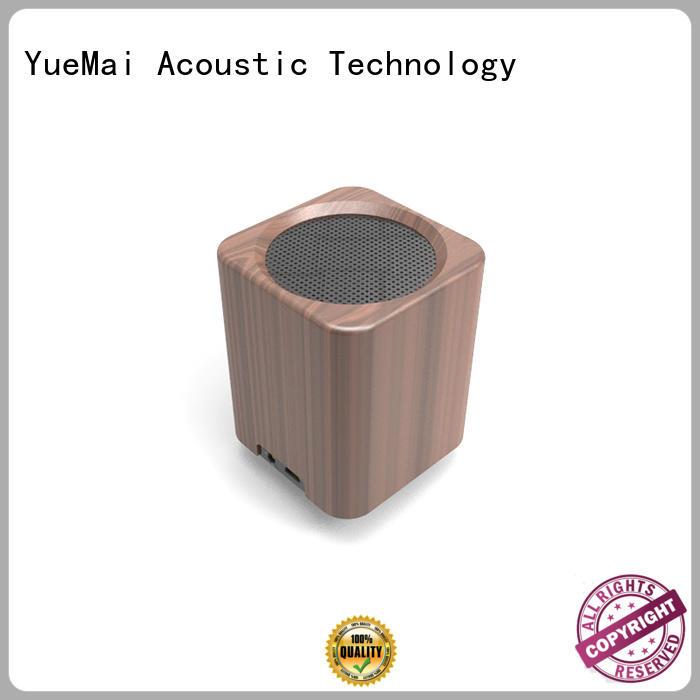 wooden portable speaker bass treble YueMai Acoustic Technology Brand wooden bluetooth speaker