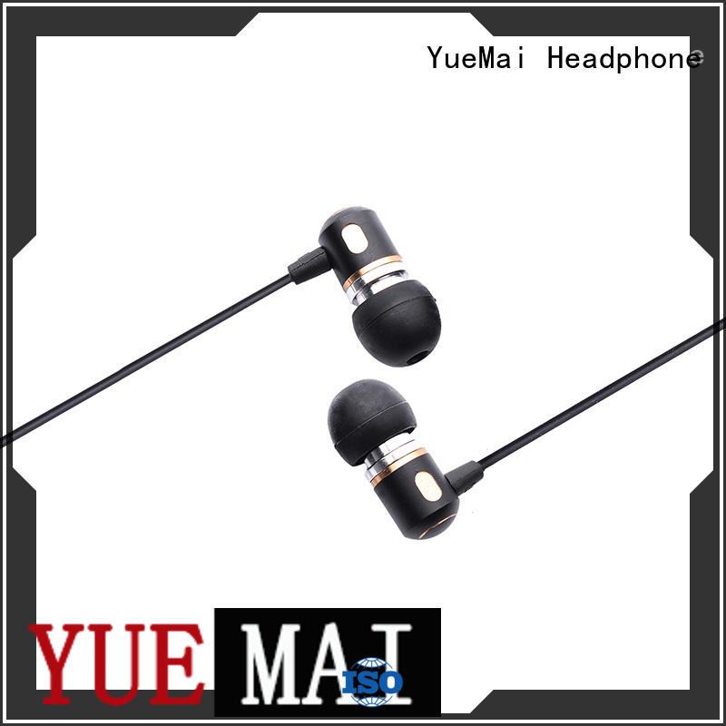 dual Stereo metal in ear headphones oem YueMai Acoustic Technology company