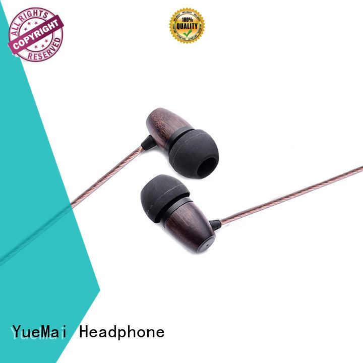 headphones made of wood & over head earphones