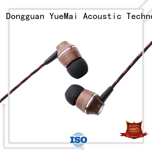 plastic Custom earbud free wooden earbuds YueMai Acoustic Technology wired