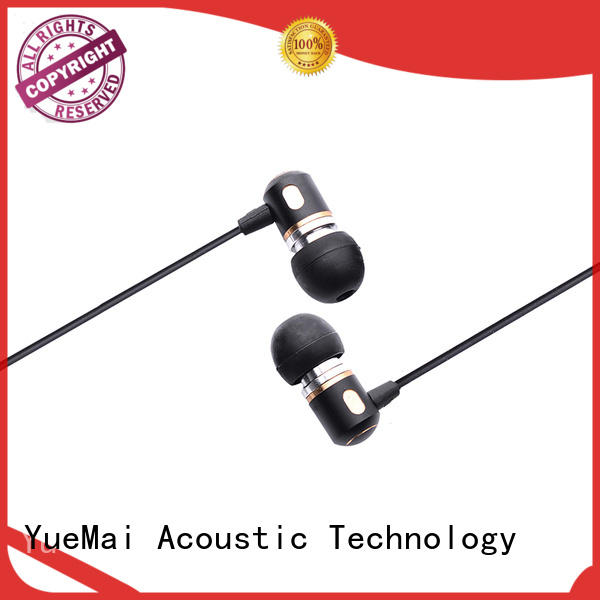 YueMai Acoustic Technology Brand Stereo driver custom metal in ear headphones