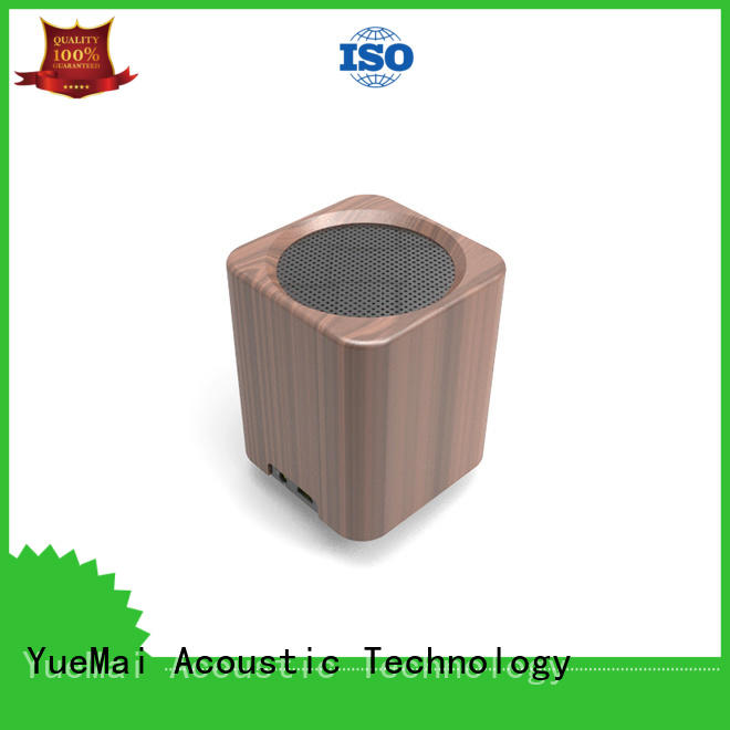 YueMai Acoustic Technology Brand high bass wooden portable speaker