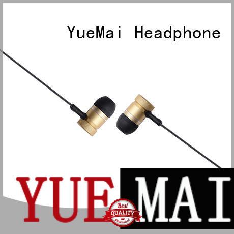 metallic metal earphones with microphone for sale