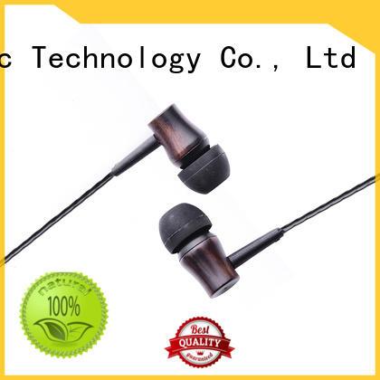 wood stereo earbuds & custom in ear headphones