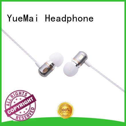 oem dual hands YueMai Acoustic Technology Brand metal headphone supplier