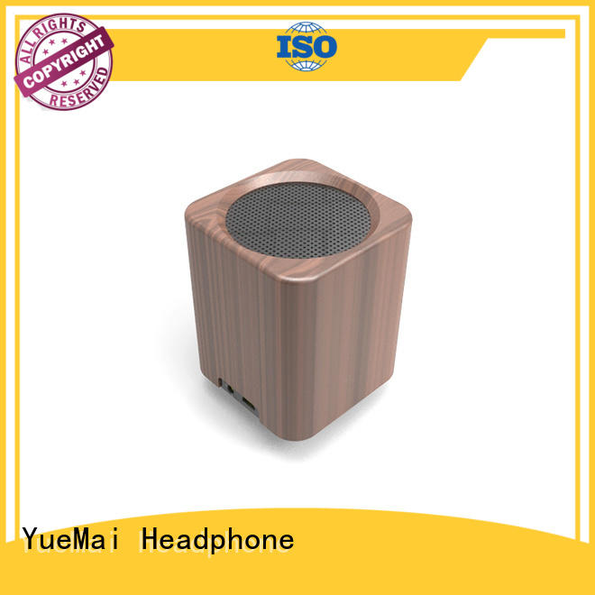 YueMai Acoustic Technology Brand clear rich wooden bluetooth speaker manufacture
