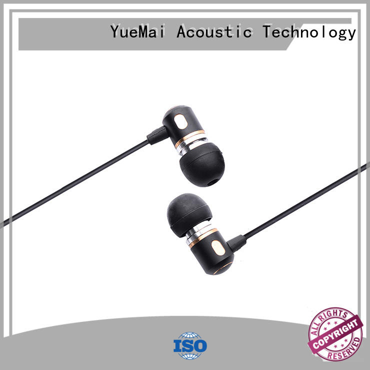 metal in ear headphones oem free metallic YueMai Acoustic Technology Brand