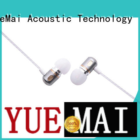 dual driver earphones metal without logo for ipad YueMai Acoustic Technology