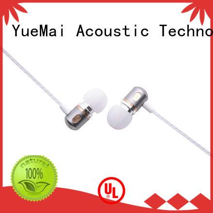 Hands free dual driver earphone metallic headphone