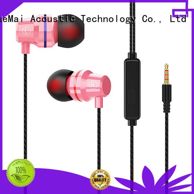 hands free metal earphones factory for kids